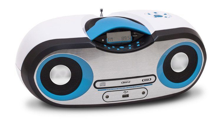 Le lecteur radio CD CD54 est disponible en trois habillages (bleu/noir, violet/rose et noir) au prix public conseillé de 54,95€ TTC