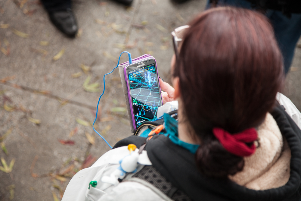 Player playing Ingress
