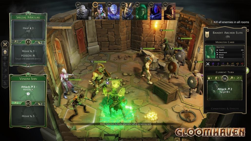 Screenshot Gloomhaven Gameplay 2